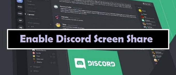 Enable Discord Screen Share