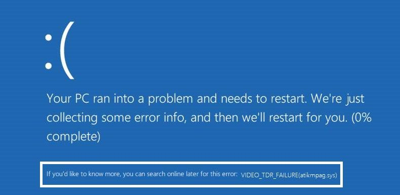 How To Fix atikmpag.sys Blue Screen of Death (BSOD) Error?